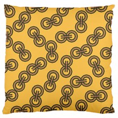 Abstract Shapes Links Design Large Cushion Case (one Side)