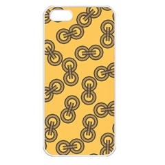 Abstract Shapes Links Design Apple Iphone 5 Seamless Case (white)
