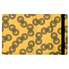 Abstract Shapes Links Design Apple iPad 3/4 Flip Case