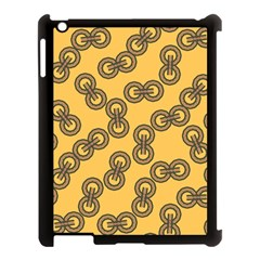 Abstract Shapes Links Design Apple iPad 3/4 Case (Black)