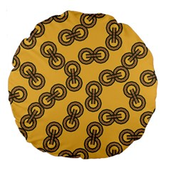 Abstract Shapes Links Design Large 18  Premium Round Cushions