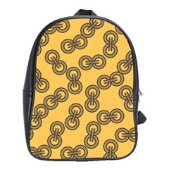 Abstract Shapes Links Design School Bags (xl)