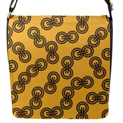Abstract Shapes Links Design Flap Messenger Bag (S)