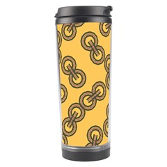 Abstract Shapes Links Design Travel Tumbler