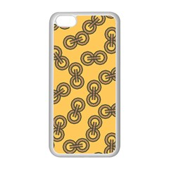 Abstract Shapes Links Design Apple Iphone 5c Seamless Case (white)