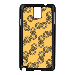 Abstract Shapes Links Design Samsung Galaxy Note 3 N9005 Case (Black)