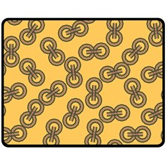 Abstract Shapes Links Design Double Sided Fleece Blanket (medium)