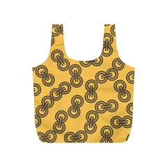 Abstract Shapes Links Design Full Print Recycle Bags (S)