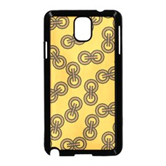 Abstract Shapes Links Design Samsung Galaxy Note 3 Neo Hardshell Case (Black)