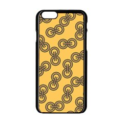 Abstract Shapes Links Design Apple Iphone 6/6s Black Enamel Case