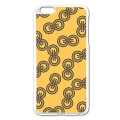 Abstract Shapes Links Design Apple iPhone 6 Plus/6S Plus Enamel White Case