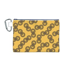 Abstract Shapes Links Design Canvas Cosmetic Bag (M)