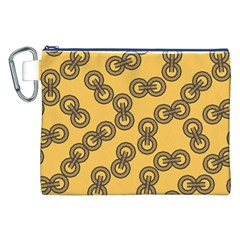 Abstract Shapes Links Design Canvas Cosmetic Bag (xxl)