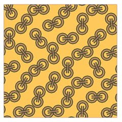 Abstract Shapes Links Design Large Satin Scarf (square)