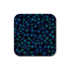 Background Abstract Textile Design Rubber Coaster (square)