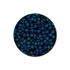 Background Abstract Textile Design Rubber Coaster (round)
