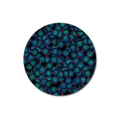 Background Abstract Textile Design Magnet 3  (round)