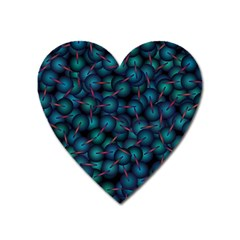 Background Abstract Textile Design Heart Magnet