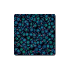 Background Abstract Textile Design Square Magnet