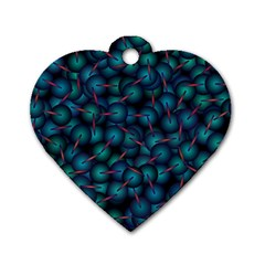 Background Abstract Textile Design Dog Tag Heart (One Side)