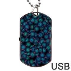 Background Abstract Textile Design Dog Tag USB Flash (Two Sides)