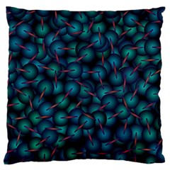 Background Abstract Textile Design Large Flano Cushion Case (One Side)