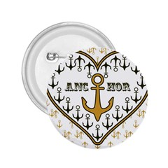 Anchor Heart 2.25  Buttons
