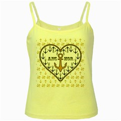 Anchor Heart Yellow Spaghetti Tank