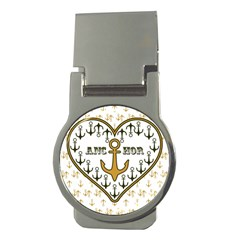 Anchor Heart Money Clips (round)