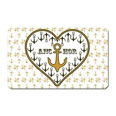 Anchor Heart Magnet (rectangular)