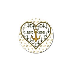 Anchor Heart Golf Ball Marker