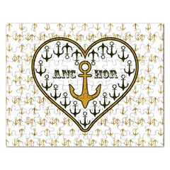 Anchor Heart Rectangular Jigsaw Puzzl