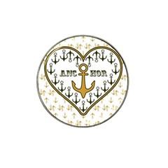 Anchor Heart Hat Clip Ball Marker (10 Pack)