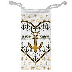 Anchor Heart Jewelry Bag