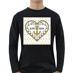 Anchor Heart Long Sleeve Dark T-Shirts