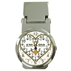Anchor Heart Money Clip Watches