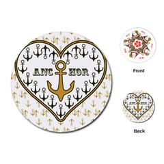 Anchor Heart Playing Cards (round)