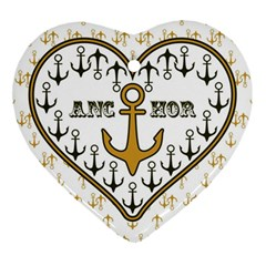 Anchor Heart Heart Ornament (Two Sides)