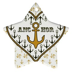 Anchor Heart Star Ornament (Two Sides)