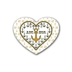Anchor Heart Heart Coaster (4 Pack)