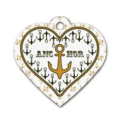Anchor Heart Dog Tag Heart (One Side)