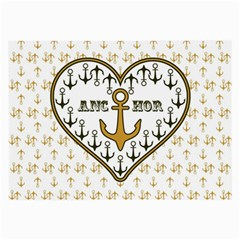 Anchor Heart Large Glasses Cloth