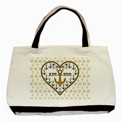 Anchor Heart Basic Tote Bag (Two Sides)