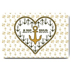 Anchor Heart Large Doormat