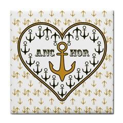 Anchor Heart Face Towel