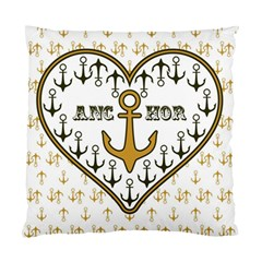 Anchor Heart Standard Cushion Case (Two Sides)