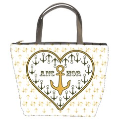 Anchor Heart Bucket Bags