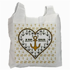 Anchor Heart Recycle Bag (Two Side)