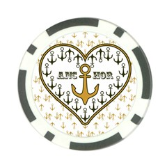 Anchor Heart Poker Chip Card Guard (10 pack)