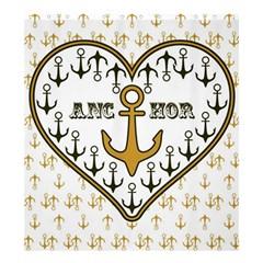 Anchor Heart Shower Curtain 66  x 72  (Large)